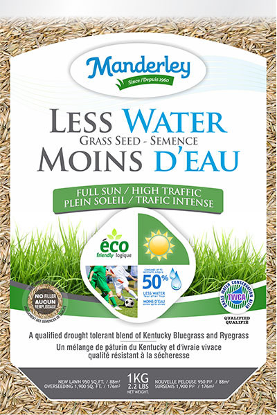 Manderly Less Water Grass Seed (4.5 kg)